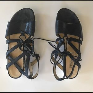 Paul Green midnight blue lace up sandals.